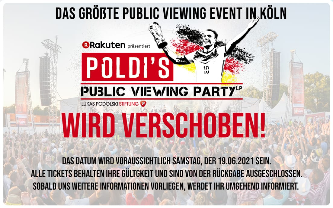 Poldi's Public Viewing Party